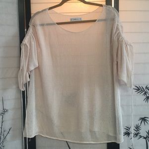 Zara Sheer Knit Layering Top